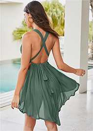 Back View Cali Ring Cover-Up Dress
