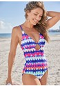 Front View Deep V Underwire One-Piece