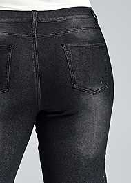 Alternate View Lace Inset Flare Jeans