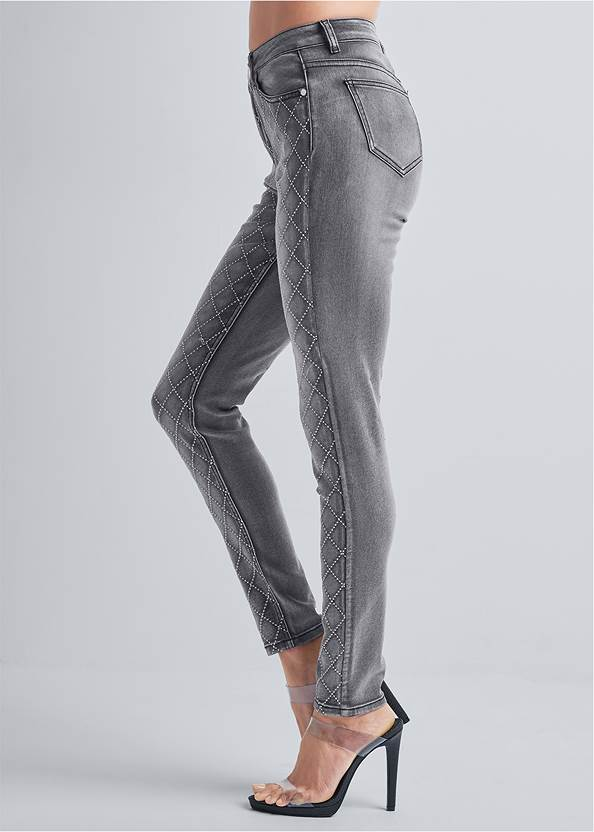 Waist down side view Embellished Skinny Jeans