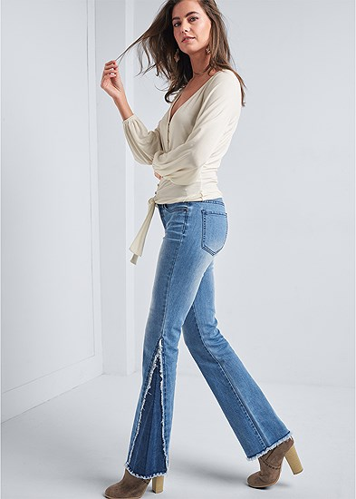 Duo Tone Bootcut Jeans