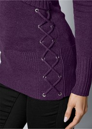 Alternate View Side Lace Up Sweater