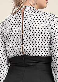 Alternate View Polka Dot Twofer Dress
