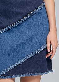 Detail front view Two Toned Denim Dress