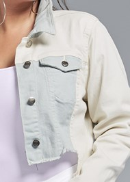 Alternate View Two-Toned Denim Jacket