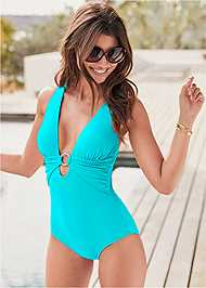 Front View Crisscross One-Piece