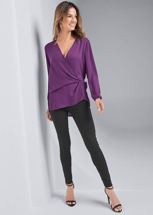 Full front view Wrap Blouse