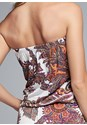 Alternate View Strapless Paisley Romper