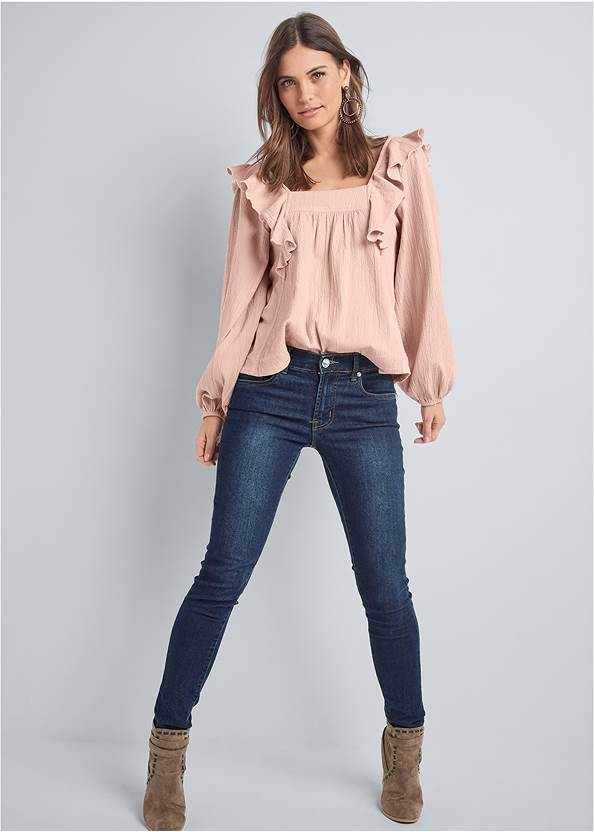 Full front view Ruffle Blouse