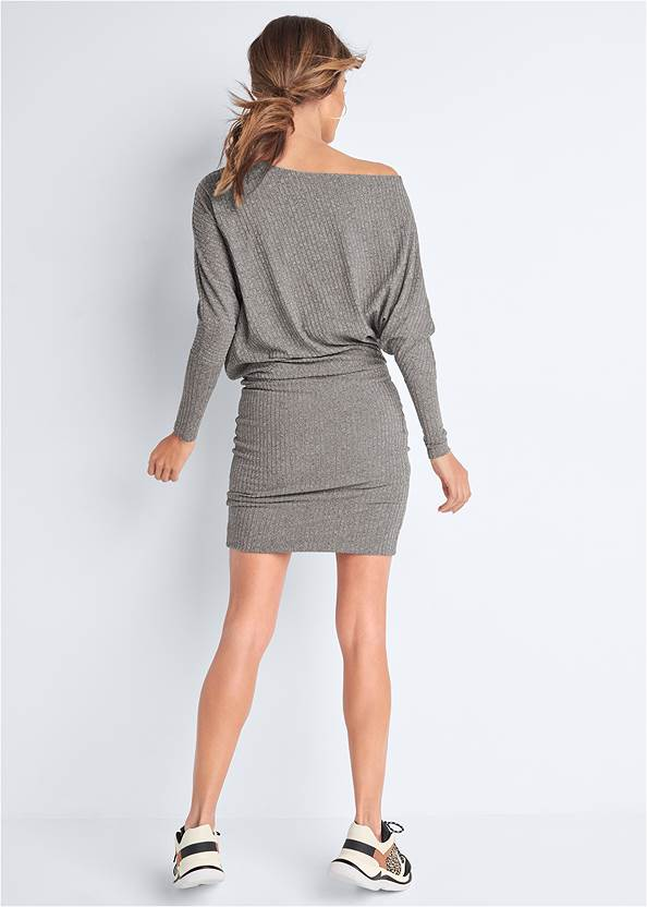 Back View Dolman Sleeve Lounge Dress