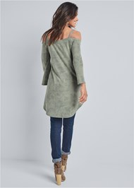 Alternate View Cold Shoulder Tunic Top