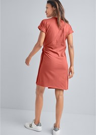 Full back view French Terry Wrap Dress