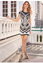 Front View Embellished Bodycon Dress