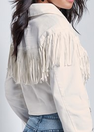 Alternate View Fringe Detail Denim Jacket