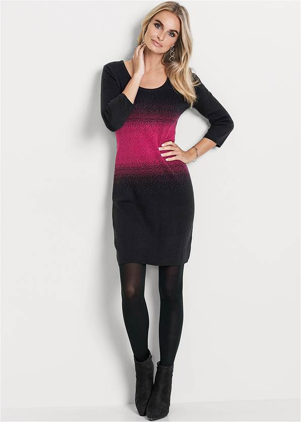 Full front view Ombre Sweater Dress