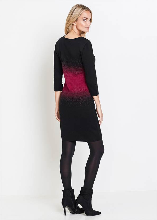 Full back view Ombre Sweater Dress