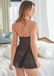Cropped back view Open Front Babydoll