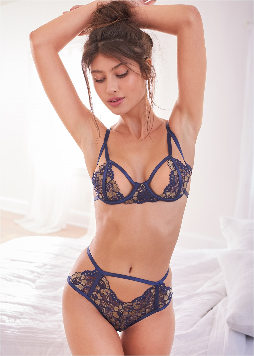 Floral Lace Bra And Panty Set
