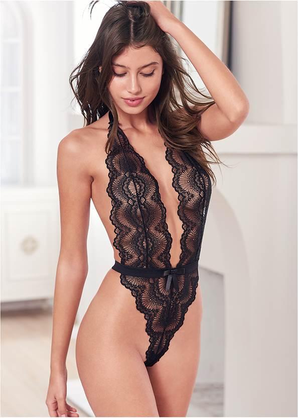 Open Back Lace Bodysuit
