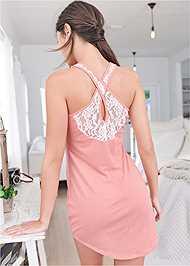 Full back view Lace Back Sleep Dress