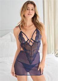Cropped front view Strappy Sexy Chemise