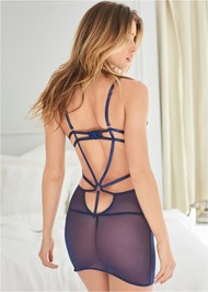 Cropped back view Strappy Sexy Chemise