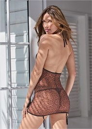 Cropped back view Animal Print Chemise