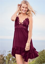 Alternate View Lace Applique Dress
