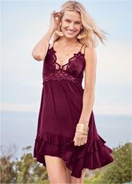 Alternate View Lace Applique Dress