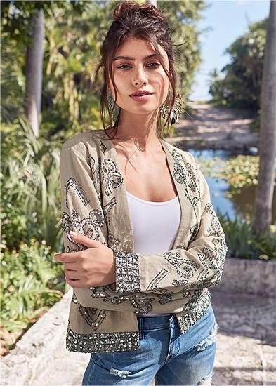 Embellished Linen Jacket