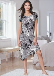 Full front view Lace Detail Sleep Dress