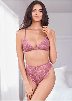 lace bra high waist panty