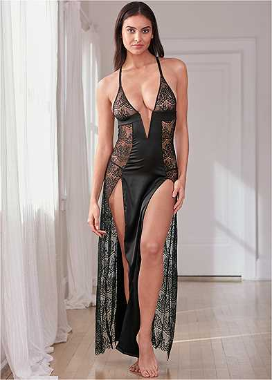 Long Lace Maxi Gown