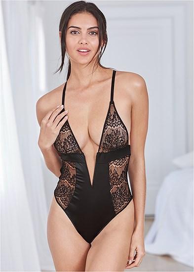 Deep V Lace Bodysuit