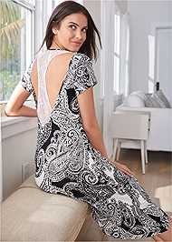 Full back view Lace Detail Sleep Dress