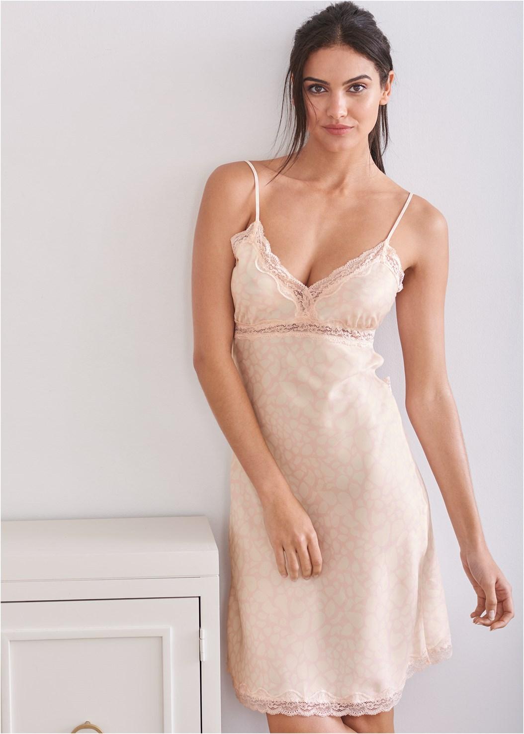 Silky Lace Sleep Dress