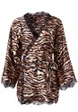 Ghost with background  view Tiger Print Robe With Lace