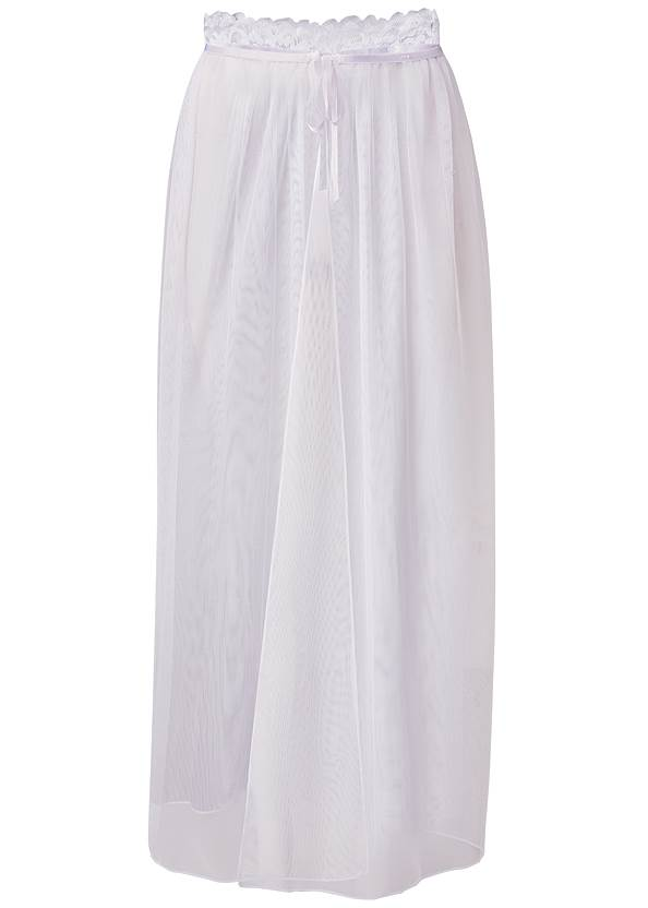 Ghost with background  view Sexy Sheer Maxi Skirt