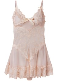 Ghost with background  view Lace Detail Babydoll