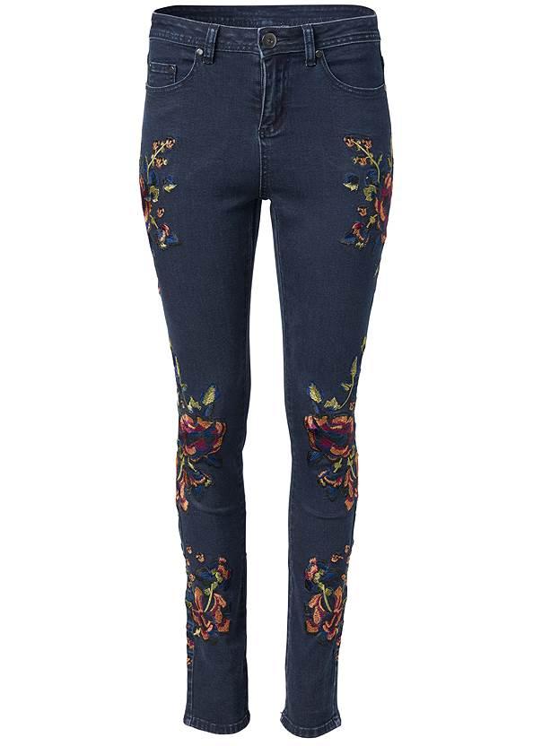 Alternate View Floral Skinny Jeans
