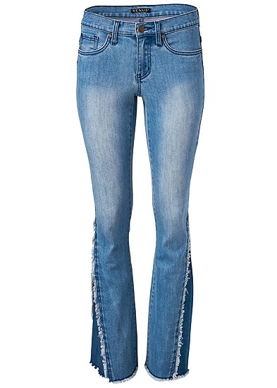 Plus Size Duo Tone Bootcut Jeans