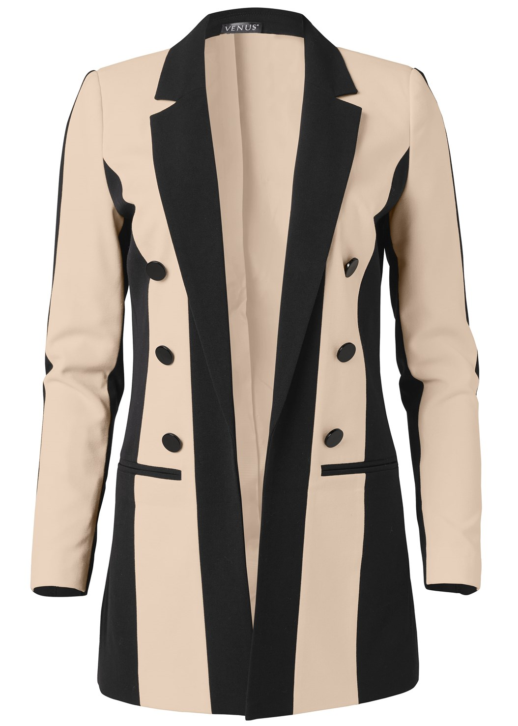 Color Block Long Blazer,Mid Rise Slimming Stretch Jeggings,Bow Detail Print Heels,Basic Cami Two Pack