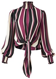 Alternate View Striped Smocked Top