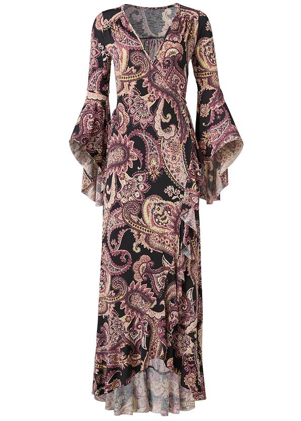 Alternate View Paisely Printed Wrap Dress