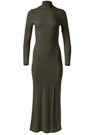Alternate View Ribbed Mock Neck Long Dress