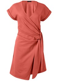 Ghost with background  view French Terry Wrap Dress