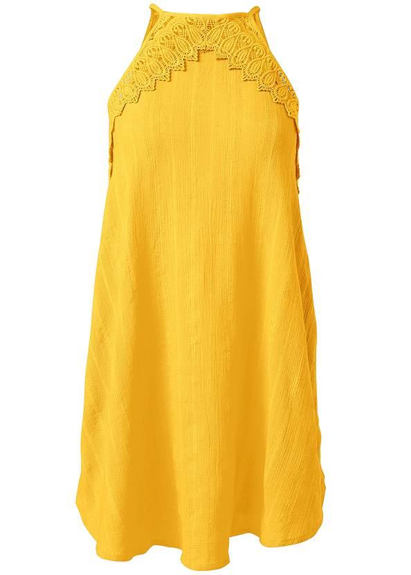 Alternate View A-Line Lace Trim Dress