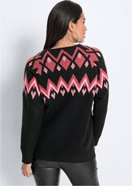 Cropped back view Sequin Detail Sweater