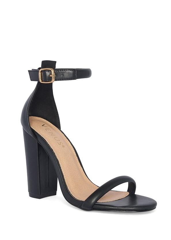 Block Heels,Ruched Asymmetrical Top,Python Print Skinny Jeans,Raffia Hoop Earrings