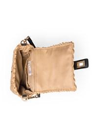 Flatshot open view Wicker Straw Bag
